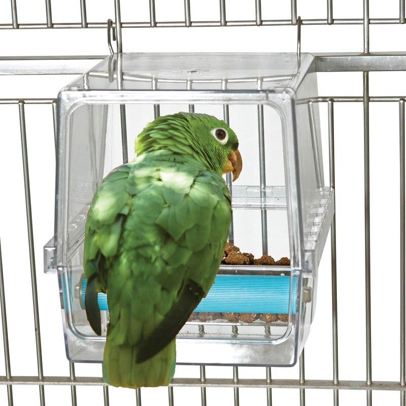 Boîte d'alimentation résistante aux déversements de perroquet CAITEC résistant aux morsures Durable adapté aux oiseaux de taille moyenne à grande sans Solution d'alimentation de déchets