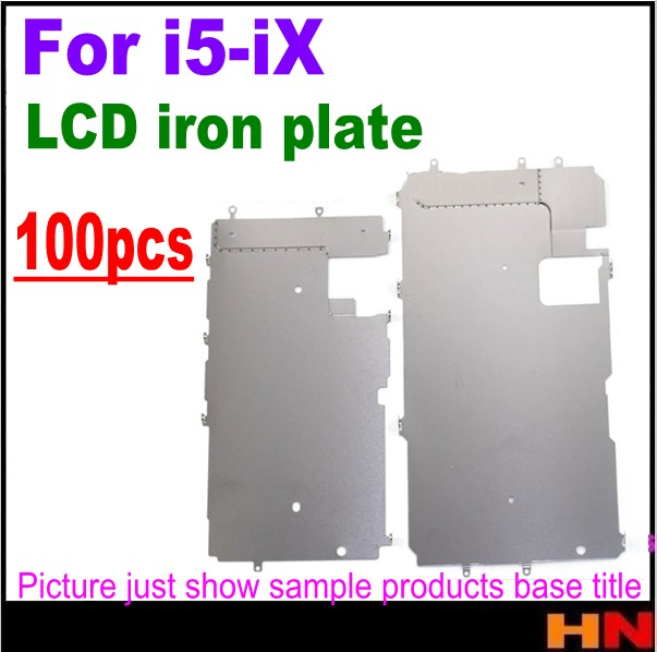 100pcs wholesale for iPhone X 8 8p 7 6s 6 5s 5 plus New Lcd Metal