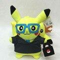 Pokemon Pikachu Cosplay de Peluche de Juguete 30 cm Pikachu Cosplay Oficinista con Gafas de Juguete de Regalo de Peluche Juguetes de peluche Muñeca Suave para niños
