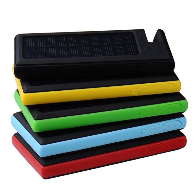 Солнечная Энергия Банк 8000 мАч Солнечное Зарядное Устройство Powerbank Внешний Аккумулятор Панели Солнечных Батарей Портативное Зарядное Устройство для Телефона Аккумулятор