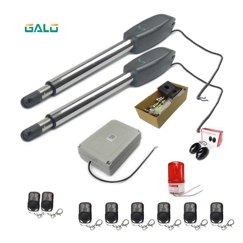 Solar Remote Swing Door Opener gate motor Electric Gate Operator Automatic swing arm swing gate opener