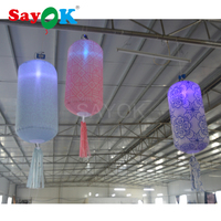 2018 Hot sale attractive colorful GBR led lighting hanging inflatable lantern for wedding stage decoration free shipping