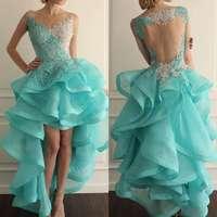 Новые Бальные платья Высокая Низкая кружево 8th класс выпускные сладкий 16 окончание средней школы vestido de festa Curto