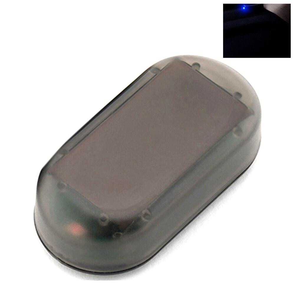 Anti-Theft Universal LED Light Solar Power Flash Alarm Lamp Car Caution Simulation Strobe Signal Security System Warning Fake