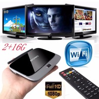 2017 Newest Andriod 4 4 Smart TV Box Quad Core 2G 16G Bluetooth 1080P WIFI Android