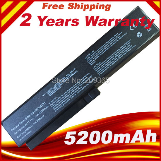 Free Shipping 5200mAh Laptop Battery For LG R410 R510 R560 SQU-804/805 SQU 807 SW8-3S4400-B1B1 3UR18650-2-T0144 3UR18650-2-T0188