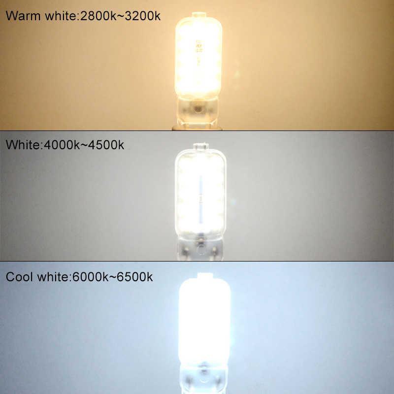 14 22 LEDs G9 LED Bulb 3W 5W 110V 220V High Lumen SMD 2835 G9 Ampoule LED Chandelier Diode Spotlight Bulb Lampara