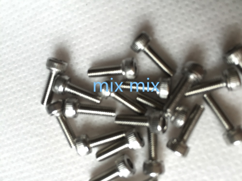100x Metric Thread M3*10 Stainless Steel Hex Bolt Kit 304 Cap Nut Washer Screw 20pcs m3 6 m3 x 6mm aluminum anodized hex socket button head screw