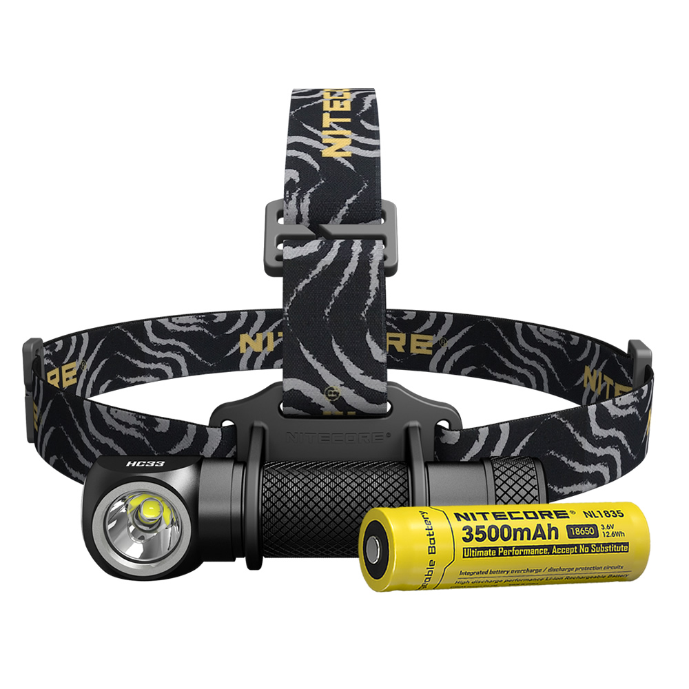 Sale 2018 NITECORE HC33 1800 LMs Headlamp 18650 Rechargeable Battery Waterproof Flashlight Outdoor Camping Hunting Search