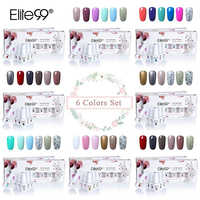Elite99 8ml Soak Off UV LED Gel Polish 6 pieces/lot Nail Gel Varnish Lacquer With Gift Box Gorgeous Color Nail Art Manicure Gel