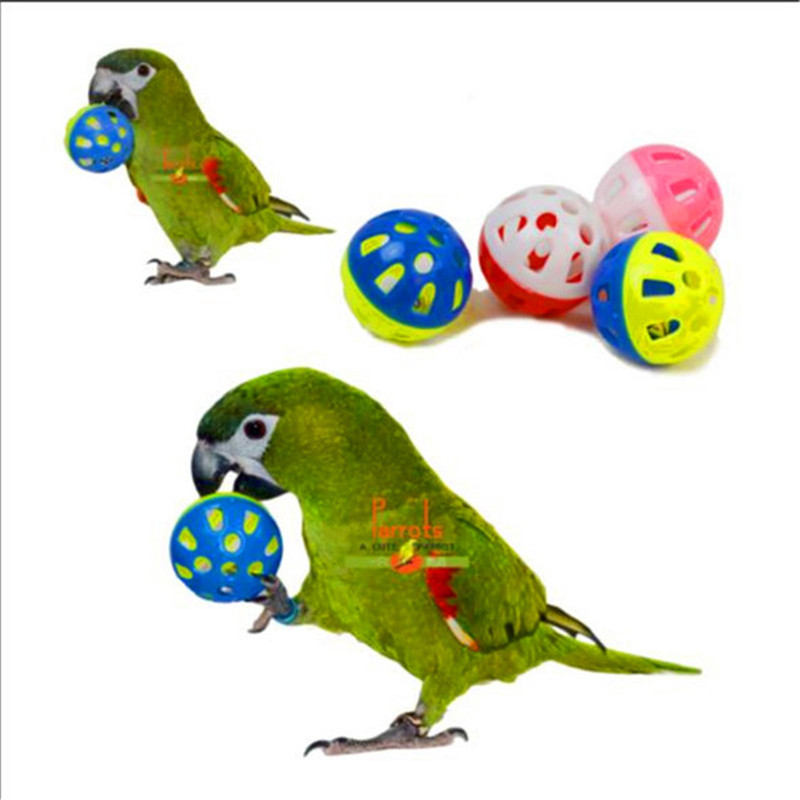 Pet Parrot Toy Bird Hollow Bell Ball For Parakeet Cockatiel Chew Fun Cage Toys