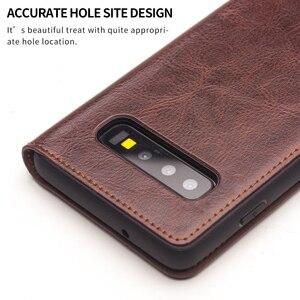 Image 5 - QIALINO Luxus Echtes Leder Telefon Abdeckung für Samsung Galaxy S10 6,1 zoll Stilvolle Ultra Dünne Flip Fall für Galaxy S10 plus