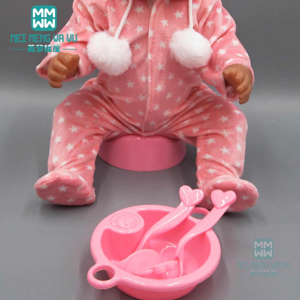 Игрушка домик для ребенка сцены интимные аксессуары для 43 см новорожденного куклы и bjd Кукла Бутылка молока + вилки соска тарелка