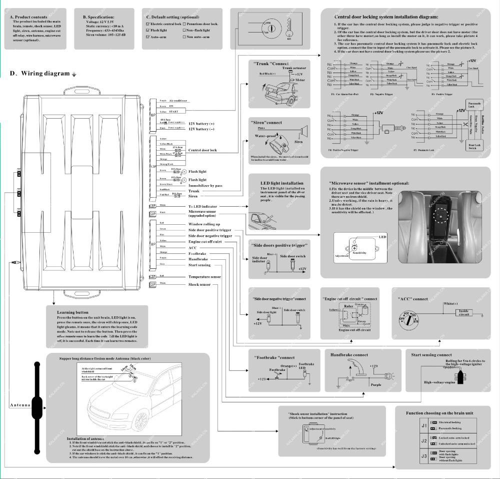 Spy Two Way Car Alarm System Wiring Diagram Diagrams Design 1 Set Germany Brand