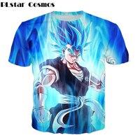Cosmos PLstar Clássico T-shirt do anime Dragon Ball Z Super Saiyan 3d t-shirt Bonito Goku impressão camiseta verão Dos Homens/Mulheres Tee camisa