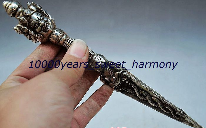 VINTAGE CHINESE SILVER COPPER HANDWORK CARVED MAGIC--JIN GANGCHUVINTAGE CHINESE SILVER COPPER HANDWORK CARVED MAGIC--JIN GANGCHU