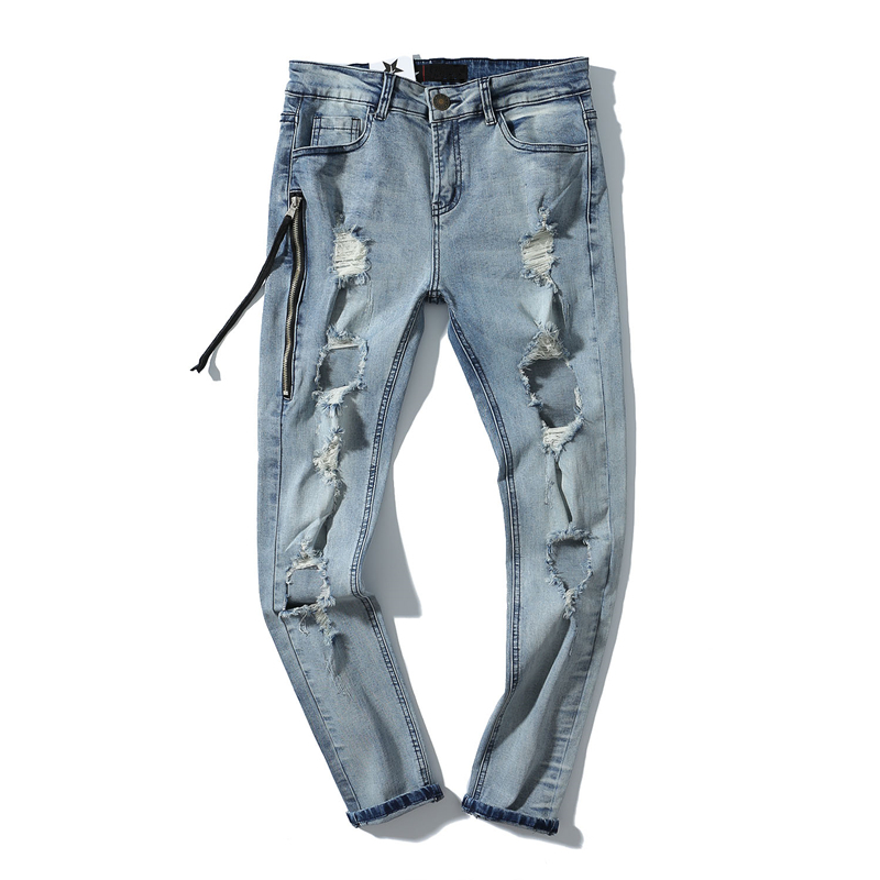 Plus Size 2017 New Men Brand Clothing Casual Ruched Mens Jeans Skinny Slim Biker Jeans Denim Long Pants ripped jeans homme 2016 new mix brand slim straight jeans men skinny wash retro old ripped jeans mens casual denim trousers biker jeans mens zipper