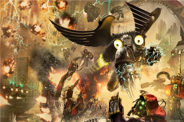 Custom canvas art warhammer 40k space marine poster for Decor 40k