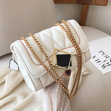 цена на ETAILL Women PU leather Quilted Shoulder Bag Chains Luxury Handbags Women Bags Designer Ladies Tote Crossbody Top-handle Bag