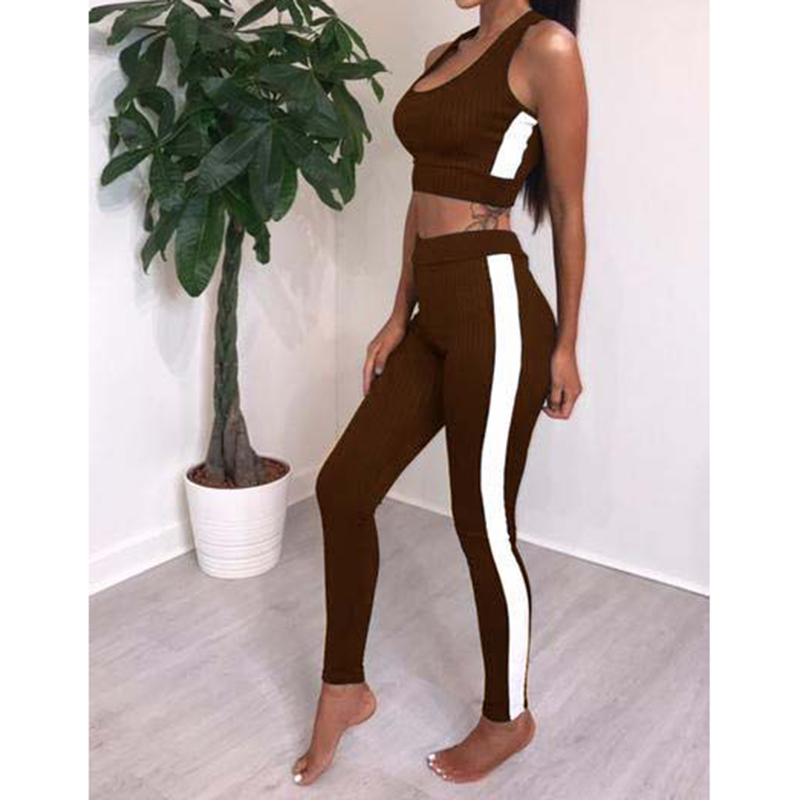 Knitted Womens Sets Long Pants Suit Sleeve Tee Tops Body Track Jumper Set For Woman 2018 Summer WS5661Z