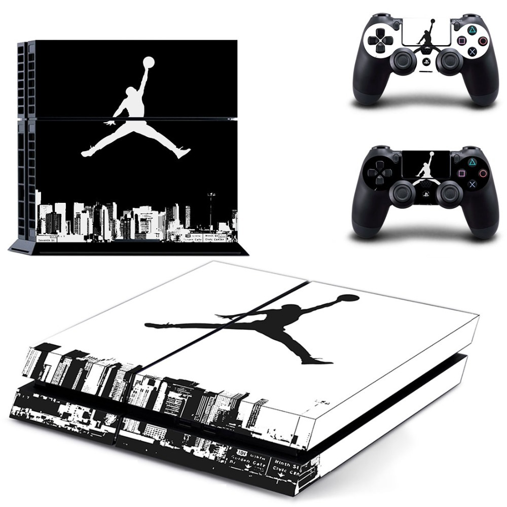 PS4 Sticker 23 Air Man: Jordan Decal PS4 Slim Skin Sticker for Sony Play Station 4 PS4 PRO Console and Two Controllers Skins(China)