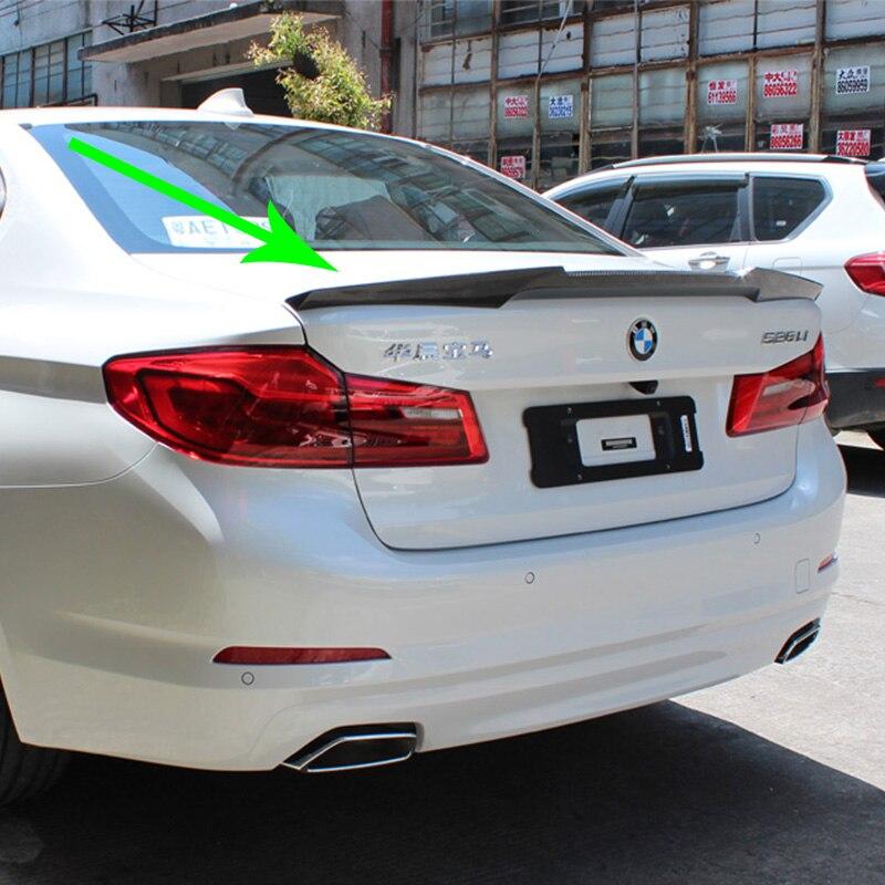 G30 530i 540i Modifié M4 Performance Style Fiber De Carbone Arrière Bagages Compartiment Spoiler Aile De Voiture Pour BMW G30 2017UP