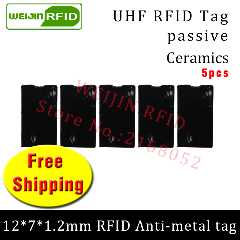 UHF RFID metal tag 915mhz 868mhz Alien Higgs3 EPC 5pcs free shipping 12*7*1.2mm thin rectangle Ceramics smart passive RFID tags uhf rfid metal tag 915m 868m epc iso18000 6c 20pcs free shipping tools management 12 7 1 2mm thin ceramics passive rfid tags