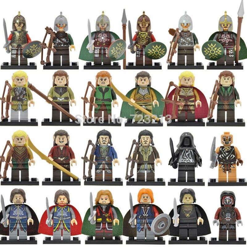 The Hobbits Figure Single Sale Wraith Rider Rohan Bowman Mordor Orc Lord Of The Rings Boromir Building Blocks Models Toys Set single sale band figure john winston lennon paul mccartney george harrison ringo starr building blocks models toys