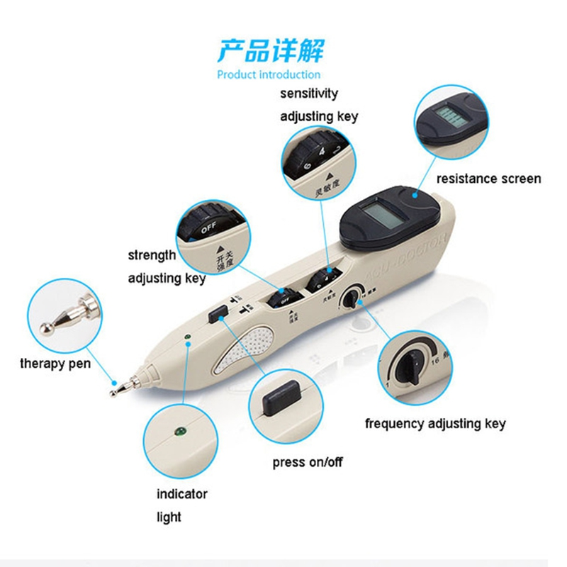 Multi-function Handheld acupoint pen TENS Point Detector with Digital Display Electro Acupuncture Point Muscle Stimulator device