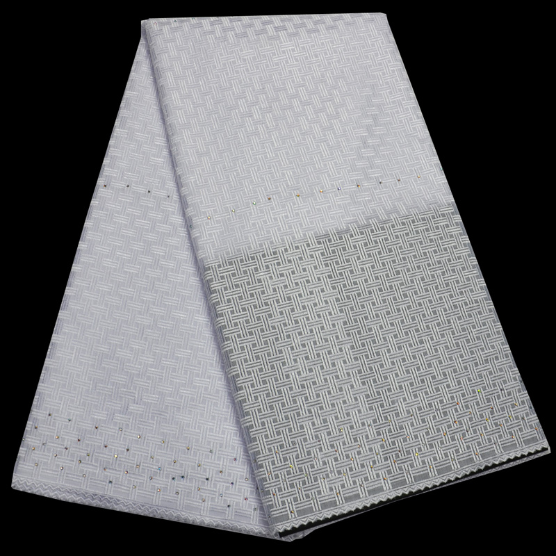 Breathable soft embroidery plain white Polish cotton lace African Swiss voile Lace fabric has no holes