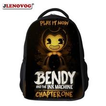 Bendy and the Ink Machine Backpack For Children 16 inch Game Nylon Waterproof School Bag Custom Name Printed BookBag Rucksack