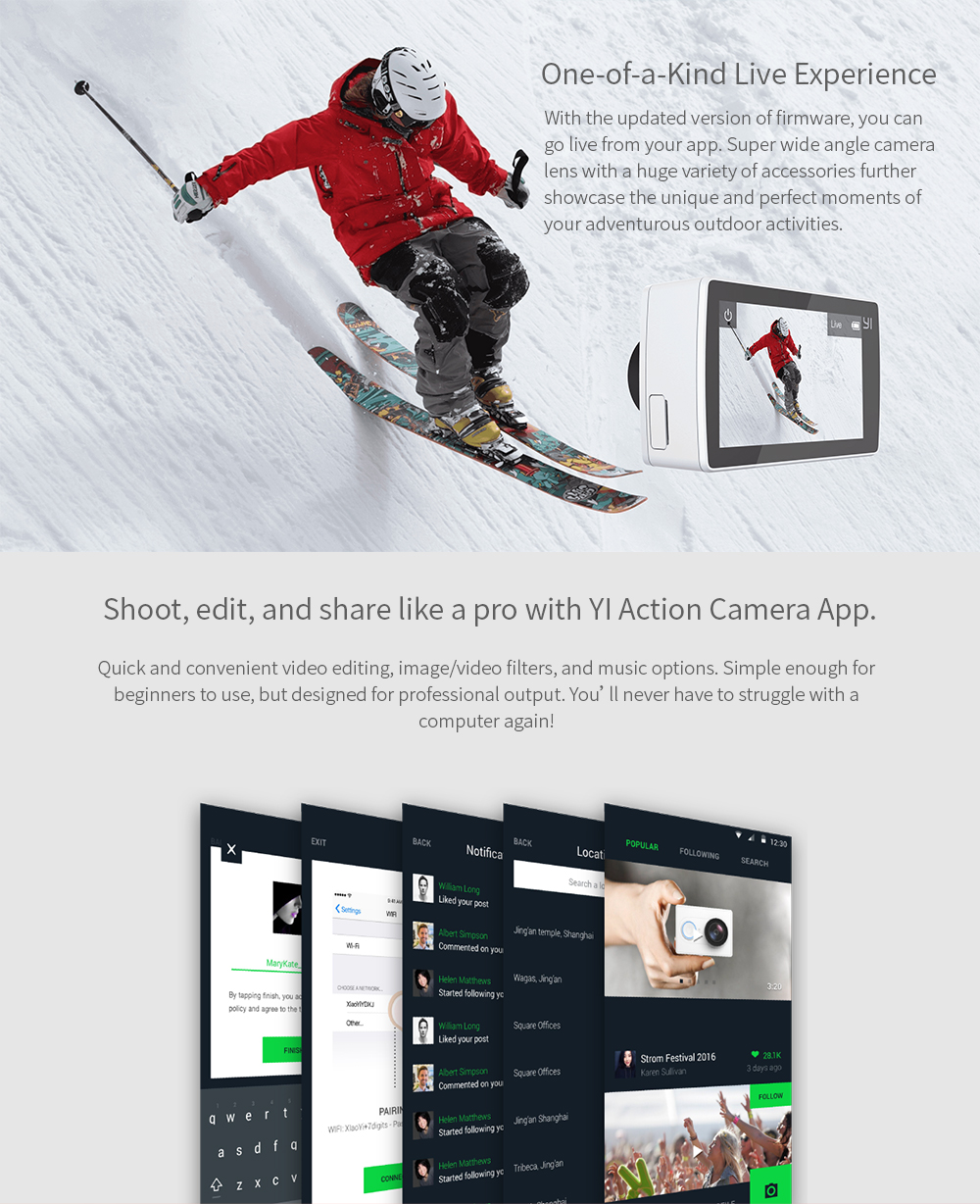 YI 4K Action Camera Bundle With Waterproof Case