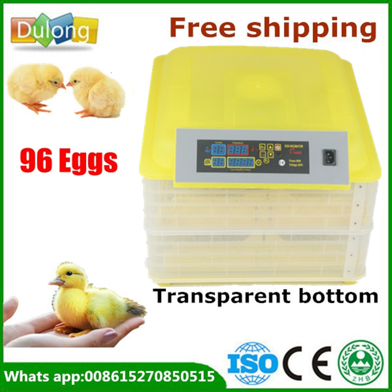 Brand New 220V 96 chicken eggs incubator for sale LED Display Temperature Digital Temperature Control brand new digital fully automatic 96 eggs incubator eggs turner for chicken hens ducks