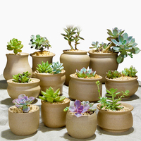 4 Pieces Ceramic Micro Garden Wedding Mini Flowerpots Square Juicy Plants Vase Flower Pots Container Small