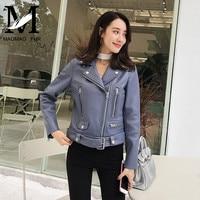 Genuine Leather Women Quality Jacket Real Sheep Leather Coat Fashion Lady Natural Lambskin Jacket