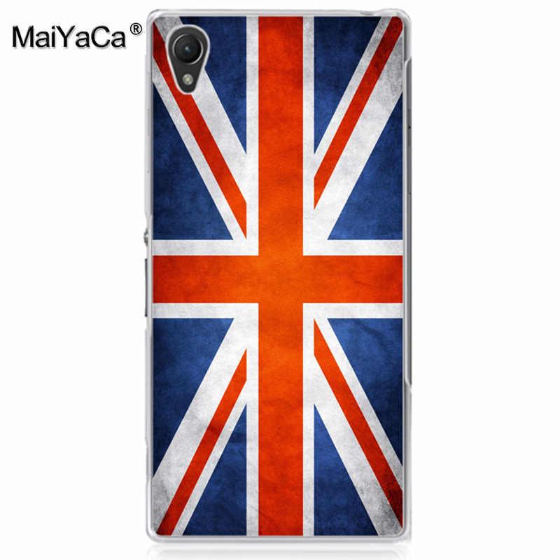 MaiYaCa Nga Mỹ British flag PC Cứng Điện Thoại Trường Hợp bìa cho sony z2 z3 z4 z5 z5 nhỏ gọn bìa cho LG G3 G4 G5CASE