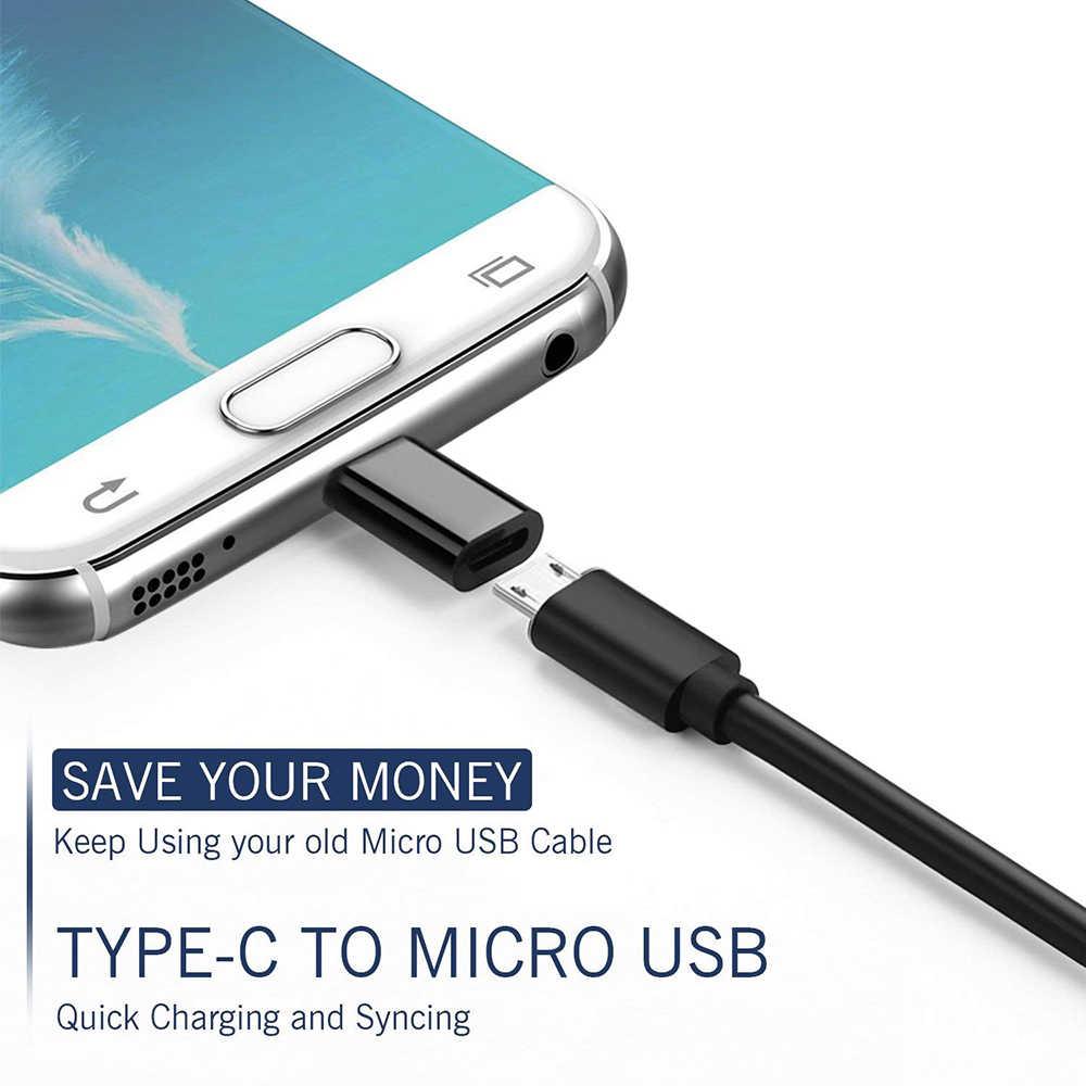 NYFundas 3PCS USB C to Micro USB Adapter for huawei mate 20 pro X P20 honor  v10 nova 3e one plus 6 6t Type C 3 1 Converter Typec