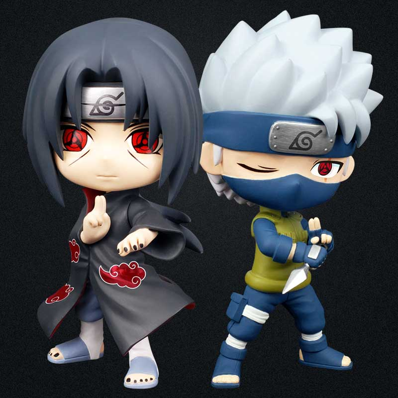Japan Naruto Cute Ver. Hatake Kakashi Action Figure 16CM painted figure Q Ver. Uchiha Itachi Doll PVC figure Toy Brinquedos anime naruto brinquedos action & toy figures juguetes hatake kakashi lightning release chidori figure kids toys for children