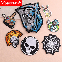VIPOINT embroidery skull patches demon badges applique for clothing YX-89