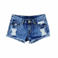 New Spring Fashion Shorts Women Denim Female Shorts Solid Blue Short Jeans Hole Style Summer Shorts