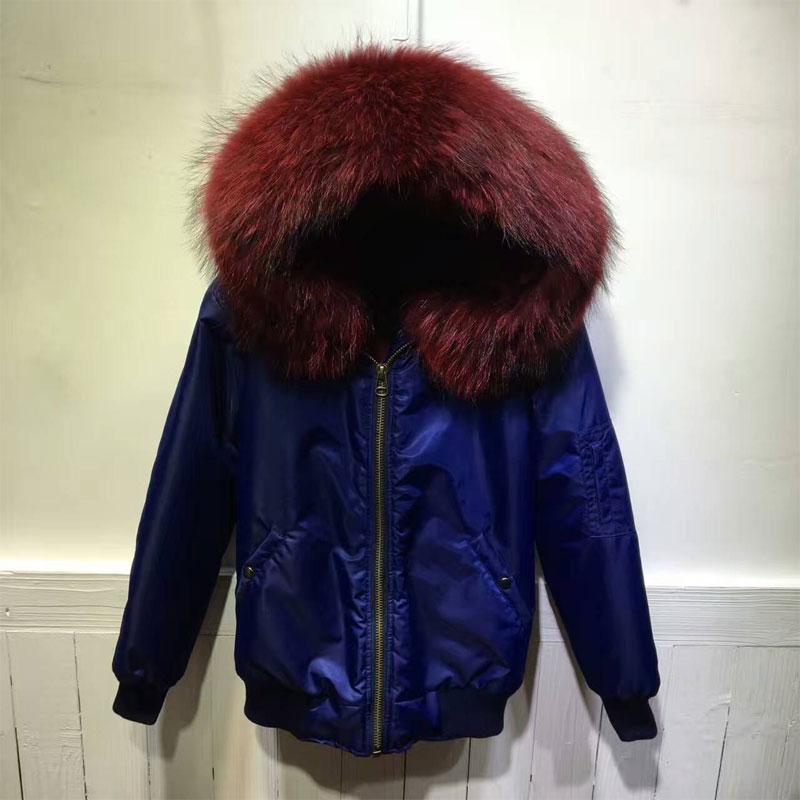 Winter Bomber Jacket for women Blue Jacket wine red jacket short version promotion price