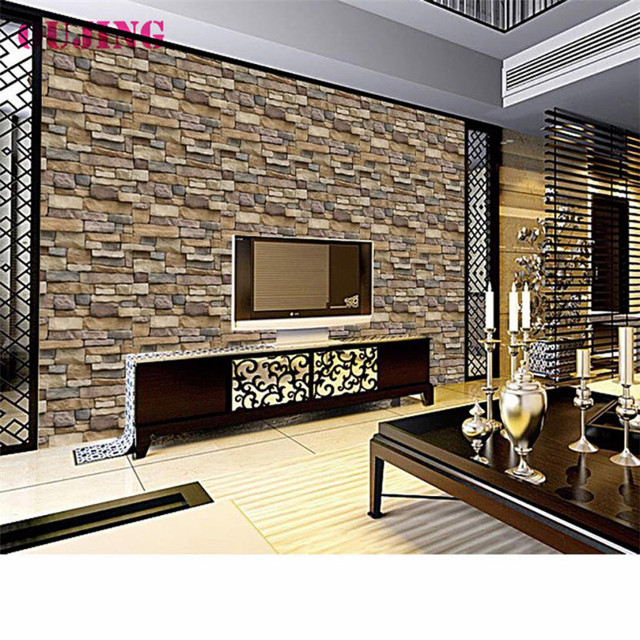 3D Wall Stickers Paper Brick Stone Rustic Effect Self Adhesive Wall Sticker  Home Decor Decals