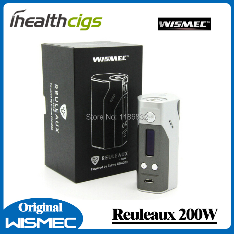 100% Original Wismec Reuleaux 200W OLED Screen Box Mod with TC/VW mode 510 thread original wismec elabo sw 2ml atomizer