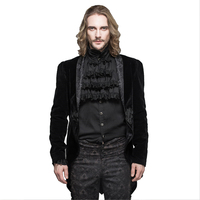 Palace Men's Dress Jacket Steampunk Gothic Slim fitting Swallow Tail Wedding Coats Red Black Halloween Coustumes