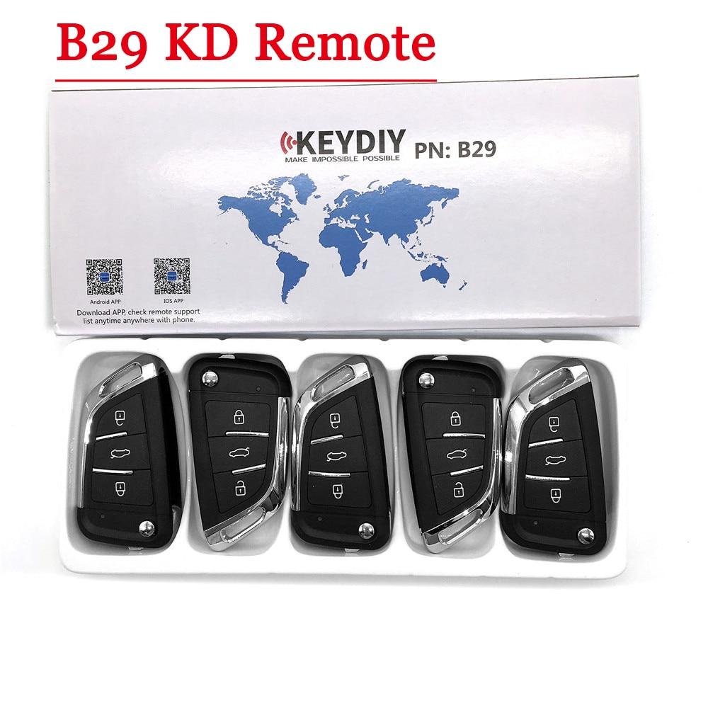 Free Shipping ( 5pcs/LOT ) NEW Model  KD900 KD900+ URG200 KD-X2 Key Generator B Series Remote  B29 3 Button Universal KD Remote