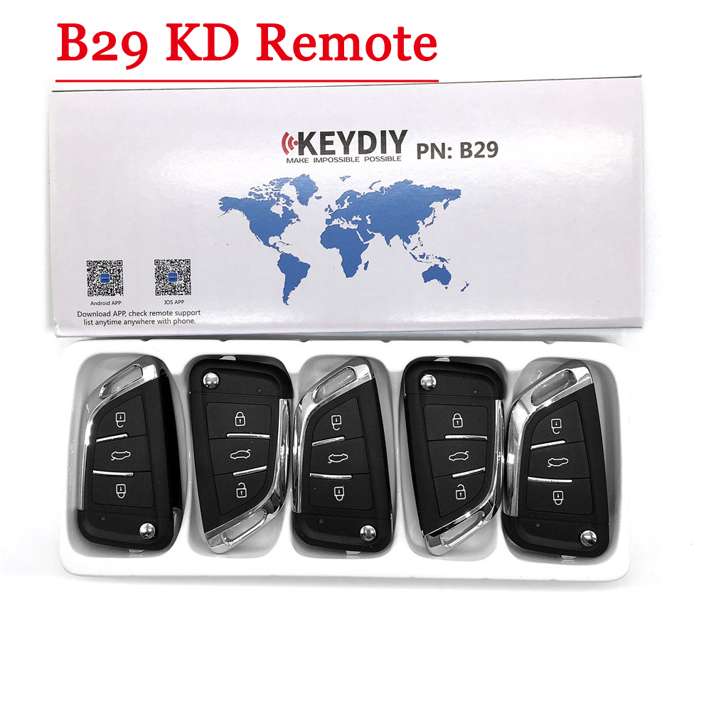 Free shipping   5pcs LOT   NEW model  KD900 KD900  URG200 KD-X2 Key Generator B Series Remote  B29 3 button Universal KD Remote