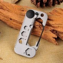 купить 420 stainless steel Self defense tool multifunctional tool angle wrench / screwdriver / opener survival kit camping EDC Gear дешево