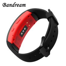Silicone Rubber Watchband for Samsung Gear Fit 2 R360 / Fit2 Pro R365 Watch Band Sports Strap Black Stainless Steel Clasp Belt