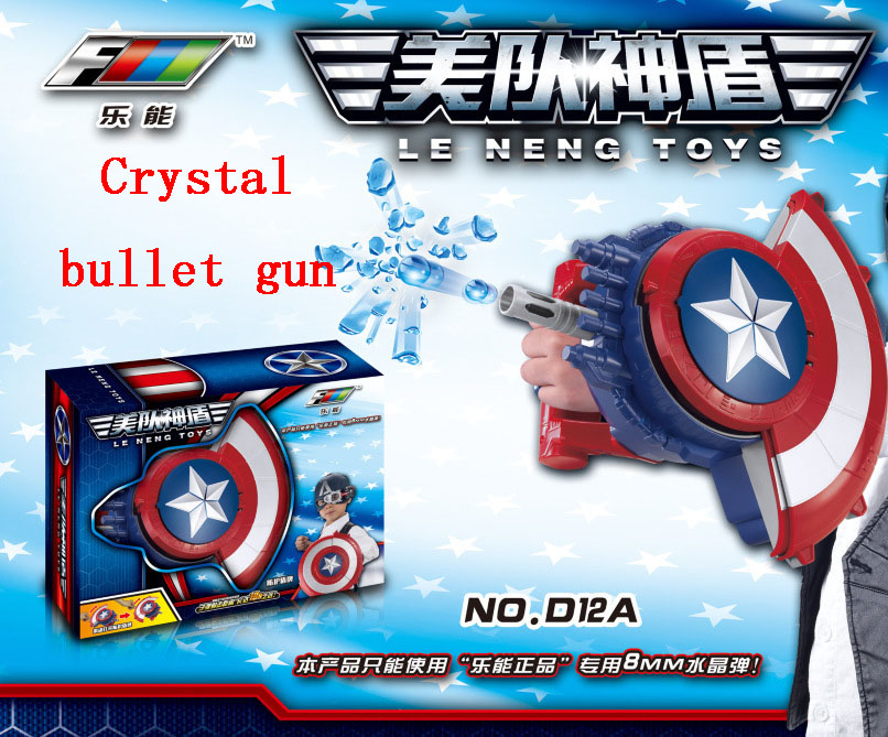 Crystal or Soft bullets gun The Avengers Captain America Shield Launcher  Shoot Gun action figure toys for baby boy kids gifts-in Action & Toy  Figures from ...