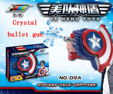 Crystal or Soft bullets gun The Avengers Captain America Shield Launcher Shoot Gun action figure toys for baby boy kids gifts